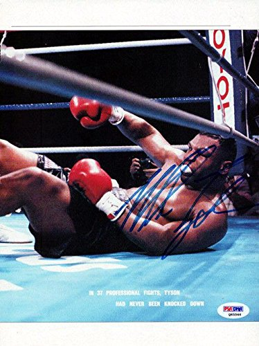 Mike Tyson Autographed Signed Magazine Page Photo Vintage Q65546 PSA/DNA Certified Autographed Boxing Magazines