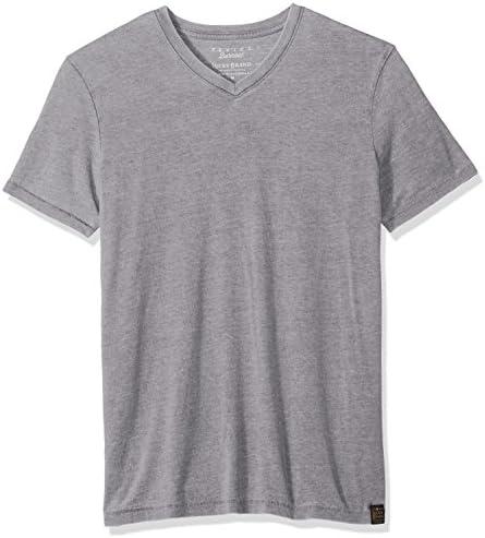 Lucky Brand mens Venice Burnout V-neck Tee Shirt