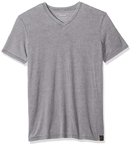 Lucky Brand Men's Venice Burnout V Neck Tee, Frost Grey, L