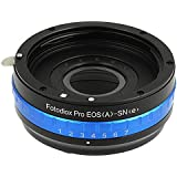 Fotodiox Pro Lens Mount Adapter - Canon EOS (EF / EF-S) D/SLR Lens to Sony Alpha E-Mount Mirrorless Camera Body with Built-In Aperture Iris and Selectable Clicked / Declicked Aperture Control