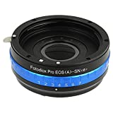 Fotodiox Pro Lens Mount Adapter with Built-in De-Clicked Iris - Canon EOS EF (NOT EF-S Lens) Lens to Sony E-Series System (NEX) Camera Adapter,  fits Sony Alpha a7, a7r, a7s, NEX-3, NEX-5, NEX-C3, NEX-5N, NEX-7, NEX-F3, NEX-5R, ,NEX-6, NEX-VG10, NEX-VG20, NEX-VG30, NEX-VG900, NEX-FS100, NEX-FS700, NEX-EA50