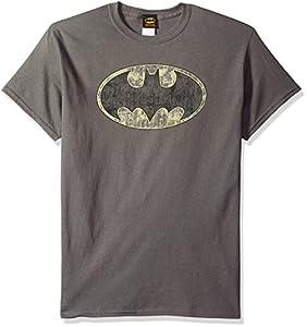DC Comics Men's Batman Tattered Logo T-Shirt at Gotham City Store