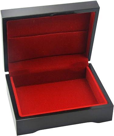 Reuvv Madera Cajas para Almacenaje Cartas 24K Papel Dorado Poker Juego Tarjetas Caja de Madera Cubierta Chapado Tarjeta Caja de Almacenamiento - Negro: Amazon.es: Hogar