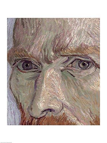 Self Portrait, 1889 (Detail) by Vincent Van Gogh Art Print, 17 x 22 inches