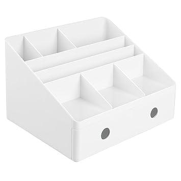 Interdesign 42011EU Linus Schreibtisch Organizer Mit Schubladen, Weiß