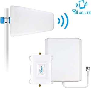 Cell Phone Signal Booster Home 4G LTE Verizon Cell Phone Booster Network Extender Band 13 700mhz Verizon Signal Booster 4G LTE Cell Phone Signal Amplifier Cell Repeater Booster LPDA Antenna Kit-FUSTAR