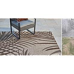 Garden and Outdoor Gertmenian 22214 Outdoor Rug Freedom Collection Coastal Themed Smart Care Deck Patio Carpet, 6×9 Medium, Royal Palm… outdoor rugs