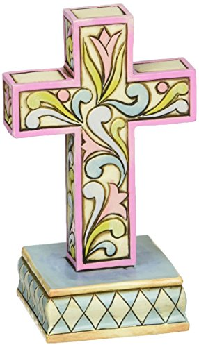 Jim Shore Spring - Jim Shore Heartwood Creek Mini Cross Stone Resin Figurine, 3.75