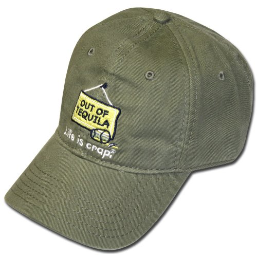 Life Is Crap Hat w/ Pocket : Out Of Tequila