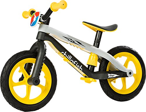 Read About Chillafish BMXie-RS: BMX Balance Bike with Airless RubberSkin Tires, Yellow (Thunderball ...