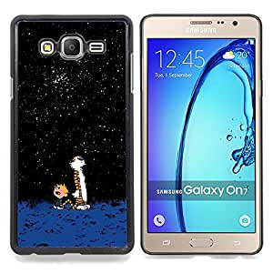 Stuss Case / Funda Carcasa protectora - Imponente historieta Tigre lindo Calvi Hobb - Samsung Galaxy On7 O7