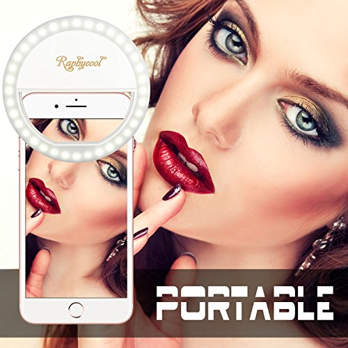 RC Selfie Ring gentle for mobile phone Camera pictures Video preview on iPhone Samsung Galaxy S7 HuaWei White On Camera Video Lights