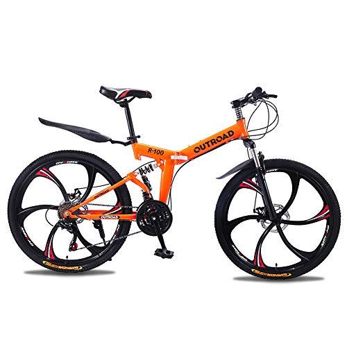 Max4out Mountain Bike Folding Bikes, 6 Spoke 21 Speed...