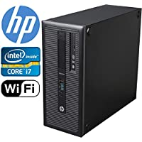 HP EliteDesk 800 G1 Tower, i7 4770 upto 3.9GHz, 500GB SSD 8GB DDR3 Ram, 4GB Nvidia GeForce GTX 1050Ti 4K HDMI 3 Monitor Support Windows 10 Pro 64-bit (Certified Refurbished)