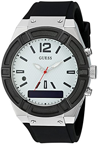 GUESS Womens CONNECT Smartwatch Silicone