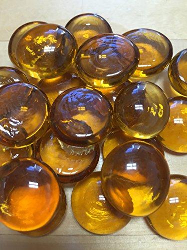 Sun and Moon Glass Gems/ Light Amber, Medium
