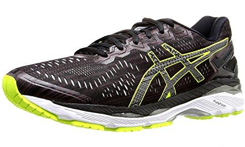ASICS Men's Gel-Kayano 23 Lite-Show Running Shoe, Rioja Red/Black/Sulphur Spring, 9.5 M US