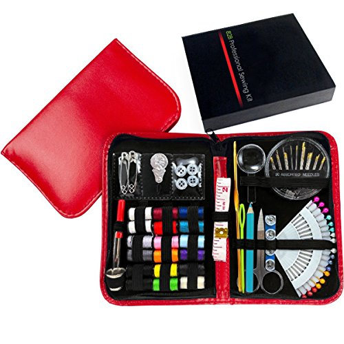 [LIMITED EDITION. Professional Sewing Supplies Kit With Leather Case by Back2Basics – Complete Set w/ Scissors, Threader, Thimble & More for All Of Your Sewing & Emergency Needs] (Best Dance Moms Costumes)
