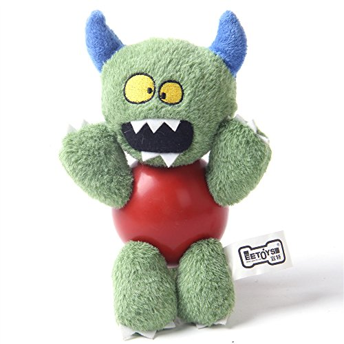 Dog Squeaky Toys for Small Dogs, Cute Monster Shapes, Cure for Pet Boredom (Green monster) (Monster Mouth)