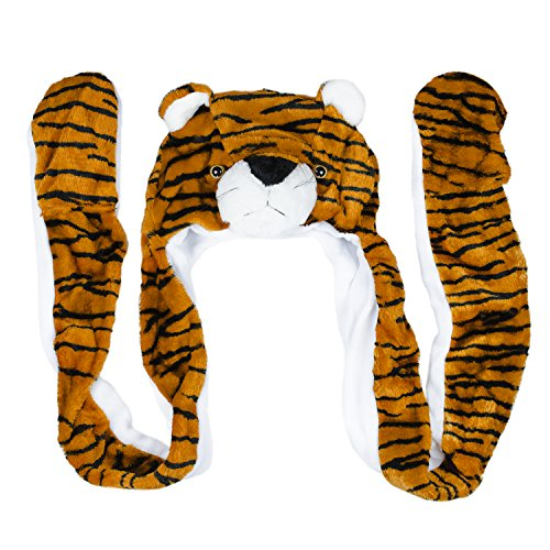 Accessories Gloves Scarves - Super Z Outlet Cute Plush Animal Head Winter Hat Warm Winter Fashion Clothing Accessories (Tiger (Long))