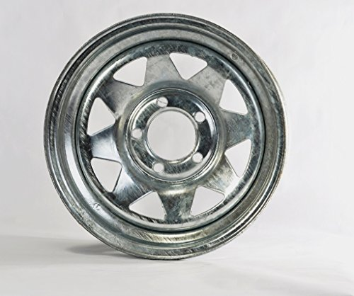 eCustomRim Trailer Rim Wheel 14 x 6 in. 14x6 5 Lug Hole Bolt Wheel Galvanized Spoke Design