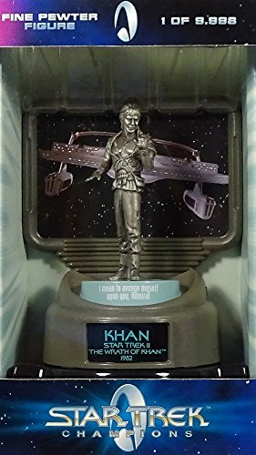 Khan, Star Trek II: The Wrath of Khan, Fine Pewter Figure, 1 of 9,998 - Star Trek Champions: Fine Pewter Limited Edition Collector Series