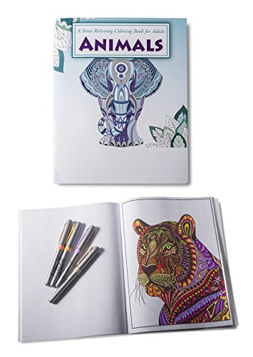 Safety Magnets Animals Coloring Book for Adults and Kids