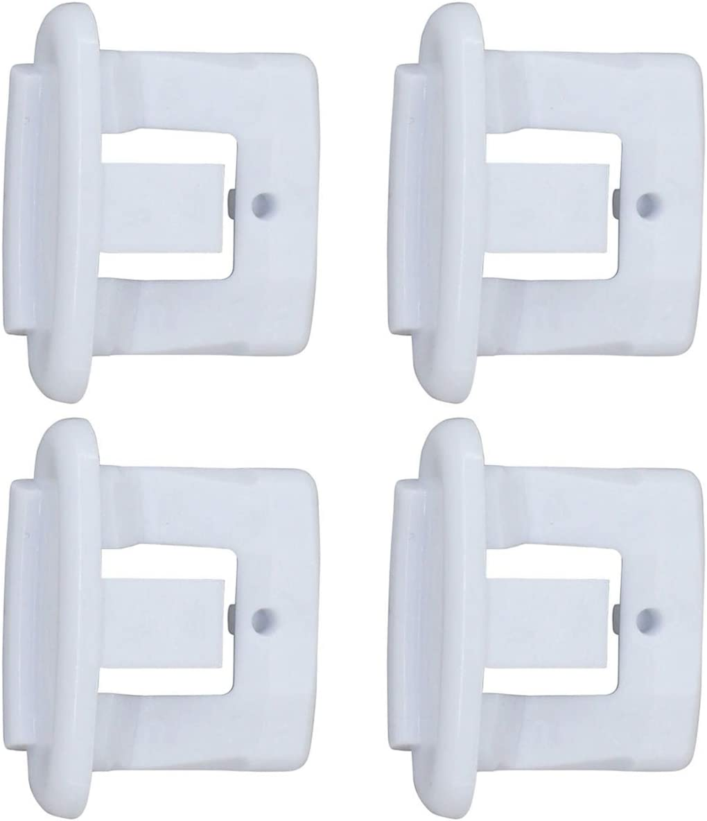 ApplianPar WD12X10304 Dishwasher Top Upper Rack Rail Slide End Cap for General Electric Kenmore Hotpoint Replace WD12X344 AP4484666 PS2370502 Pack of 4