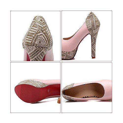 36 Platform High Super Plus Heel Chromatic cut Women beige Shoes Size Low PfX1wqnXx