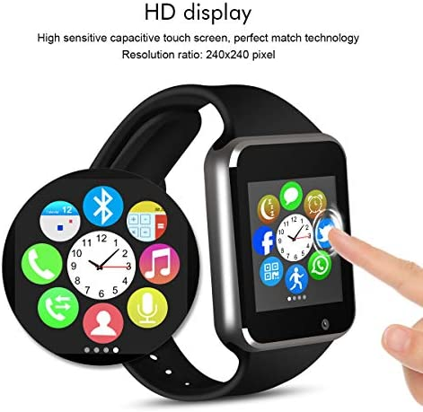 Padgene Bluetooth Smart Watch GSM Phone Watch with Camera for Samsung Nexus HTC Sony and Other Android Smartphones (Black) 517kbtNlY6L