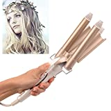 Best Wavy Hairs - 3 Barrel Curling Iron,Ckeyin Fast Heating Professional 32mm Review
