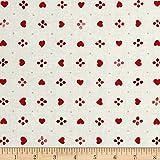 RJR Fashion Fabrics Sugar Berry Sweethearts Metallicradiant Cherry Fabric by the Yard, Radiant Cherry