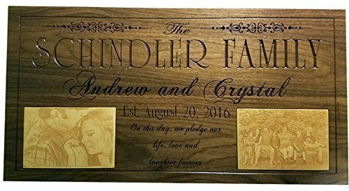 Personalized Family Gift, Name Sign, Custom Housewarming, Last Name Established Sign Personalized wedding gift for couple LP2 by Unique Gifts Of Wood