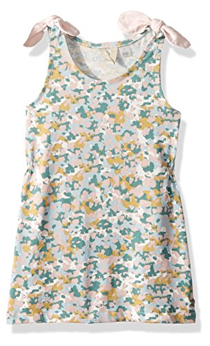 Roxy Girls' Little' My My Light Out Tank Dress, Marshmallow Floral camo, 7