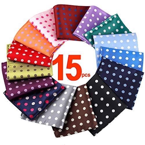 20 pcs Solid color 15 Pcs Dot Pattern Pocket squares