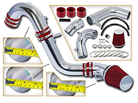 "3/"" RED Cold Air Intake Induction Kit Filter For 12-15 Civic DX//LX//EX 1.8L L4"