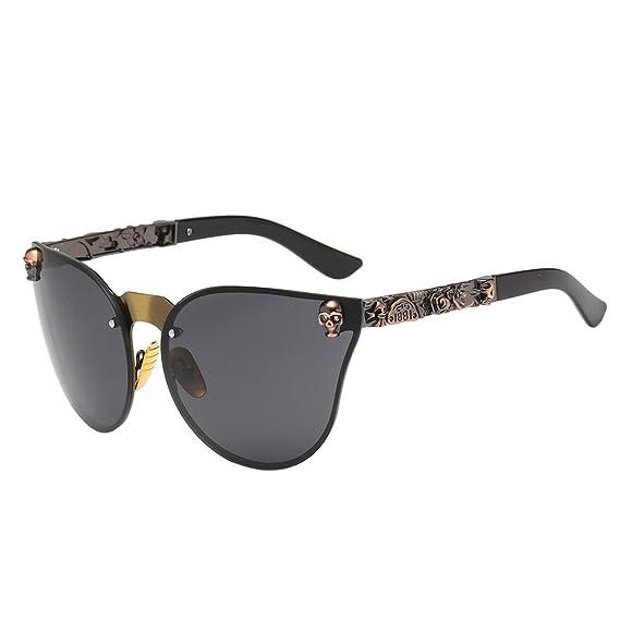 ZODOF Gafas De Sol Polarizadas De Conducción Retro para Hombres y Mujeres Marco De Metal Pistola Marco Negra Lente: Amazon.es: Ropa y accesorios