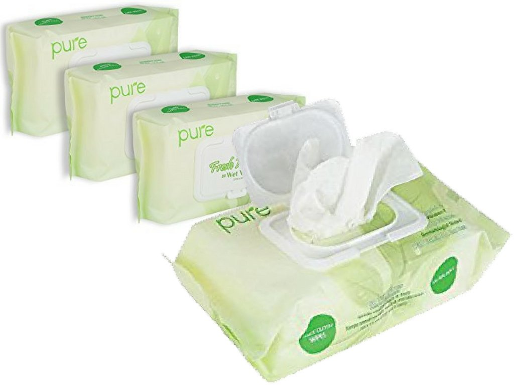 Unscented Wet Wipes Natural Wipes for Women, Men & Baby Wipes! 320 Sensitive Wipes,Hypoallergenic.Natural Baby Wipes Flip Top Wipes Dispensers(4 x 80 Fresh Wipe Refill Packs) Body Wipes for All!