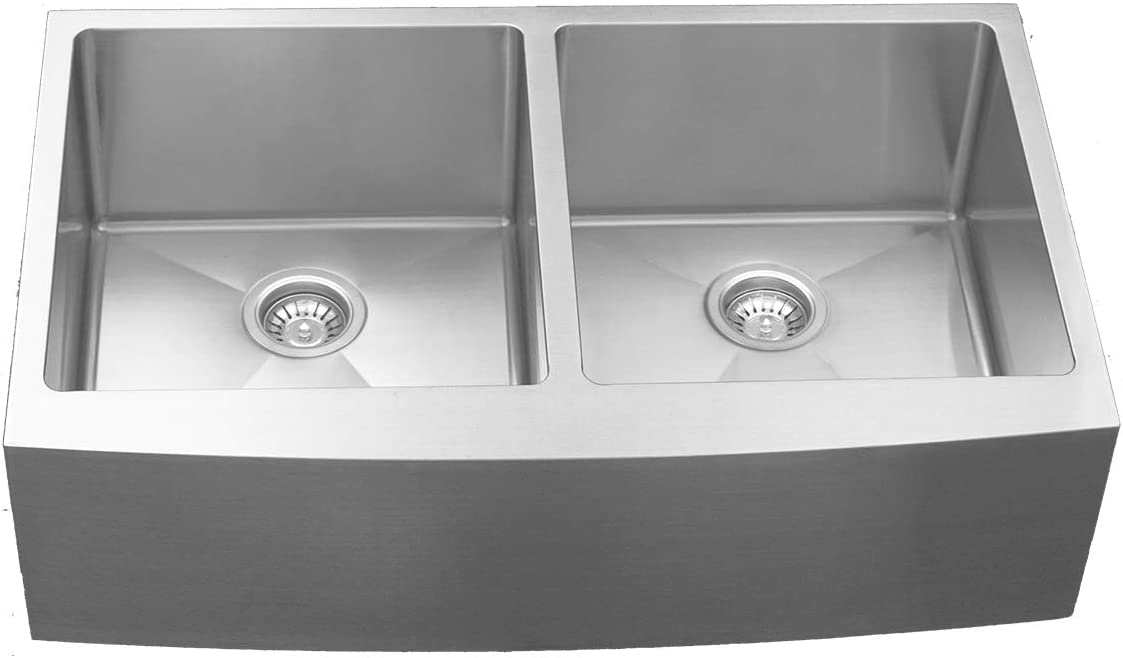 Karran Stainless Steel Undermount for Stone and Quartz Double equal bowl