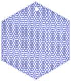 Lamson HoneyComb HotSpot Pot Holder, 7'' x 7'', Violet, Silicone