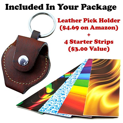 pick a palooza diy guitar pick punch with leather key chain pick holder new ebay. Black Bedroom Furniture Sets. Home Design Ideas
