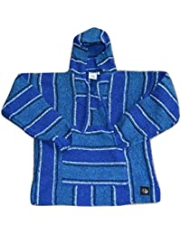 Poncho - Hand-Woven, Authentic, UNI-Sex and Eco Friendly Mexican Baja Hoodie With Pocket