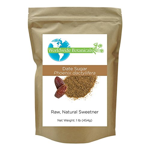 Worldwide Botanicals Date Sugar, 100% Pure, Natural Whole Food Sweetener, Certified Gluten-Free (Sugar Botanicals)