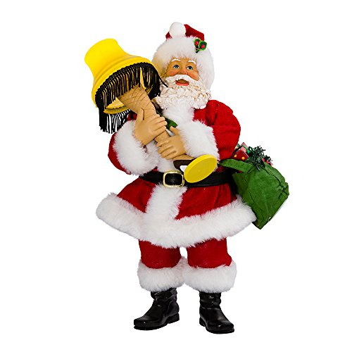 Kurt Adler Leg Lamp Fabriche Santa with Light, 10-Inch