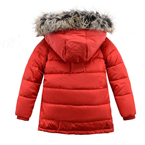 M2C Boys Winter Faux Fur Hooded Warm Insulated Jacket Parka 6/7 Red by M2C (Image #2)