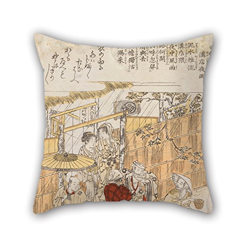 (16 X 16 Inches / 40 By 40 Cm Oil Painting Kitao Shigemasa - Untitled Cushion Covers ,twice Sides Ornament And Gift To Monther,outdoor,relatives,indoor,wedding,sofa)