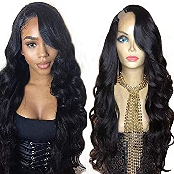 6ba4eefa0 Foxy's Hair Body Wave U Part Wig 100% Brazilian Human Hair Natural Color  Side Part