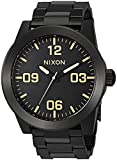 Nixon Men's 'Corporal SS' Quartz Stainless Steel Casual Watch, Color:Black (Model: A3461256)