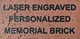 Route66SC Laser Engraved Personalized Memorial Brick - Up to 3 Lines - Made in The USA