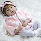 Paradise Galleries Realistic Reborn Doll in Silicone Vinyl Snow Bunny, 19 inch Baby Girl Weighted Body, 6-Piece Set